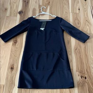 Navy blue lightweight dress with pockets